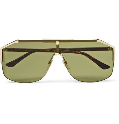 15458c20a3b Gucci - Endura Oversized Aviator-Style Gold-Tone and Tortoiseshell Acetate  Sunglasses - Gold