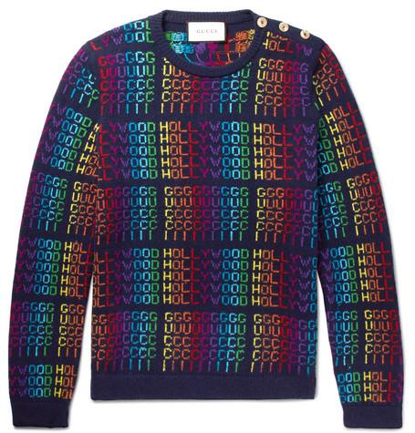 4e033ff22b Gucci - Jacquard Wool Sweater - Men - Blue