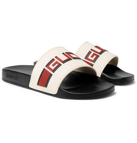 Gucci , Logo,Detailed Rubber Slides , Men , Off,white