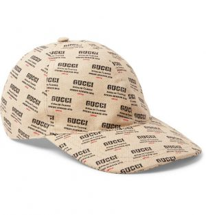 Gucci - Logo-Print Linen and Cotton-Blend Canvas Baseball Cap - Cream