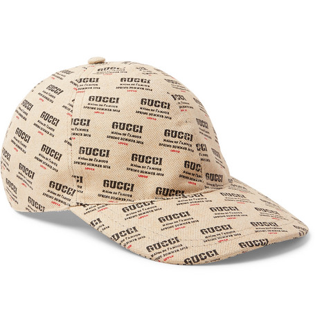 848ef1f84 Gucci – Logo-Print Linen and Cotton-Blend Canvas Baseball Cap – Men – Cream
