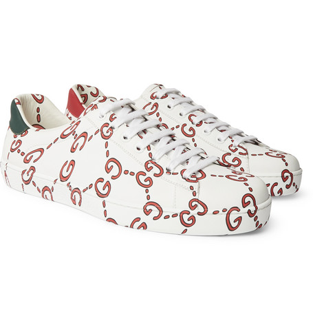 a7f74fb2ccc Gucci – New Ace Logo-Print Leather Sneakers – Men – White