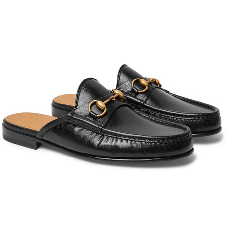 Gucci - Open Roos Horsebit Leather