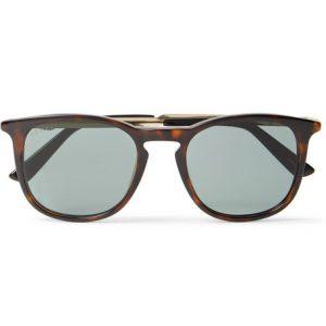 Gucci - Round-Frame Tortoiseshell Acetate and Gold-Tone Sunglasses - Tortoiseshell
