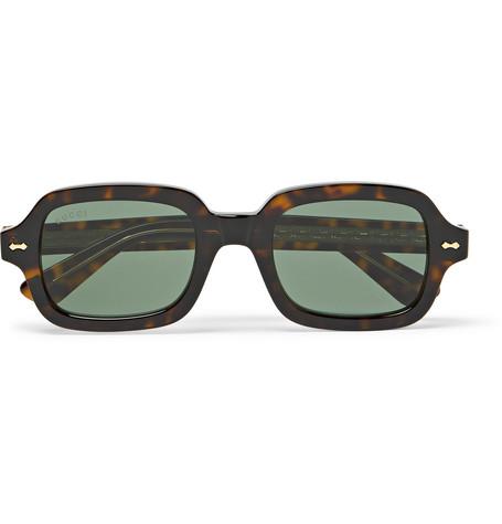 3143c451e0 Gucci – Square-Frame Tortoiseshell Acetate Sunglasses – Men – Brown ...