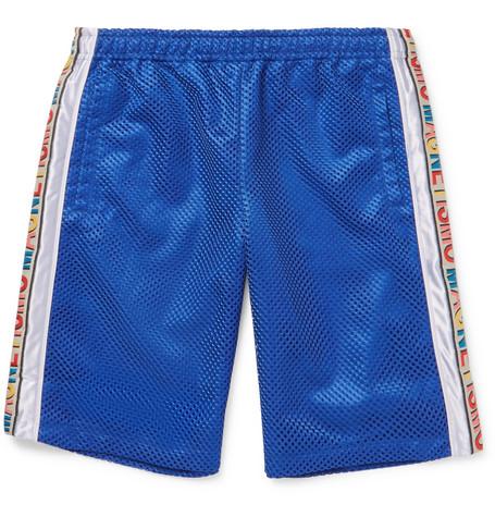 750bf1860d Gucci – Striped Mesh and Satin Drawstring Shorts – Men – Blue | The ...