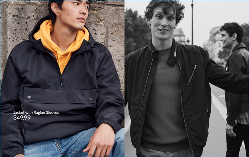 Anorak: Pictured left, Zhao Lei wears an anorak from H&M.