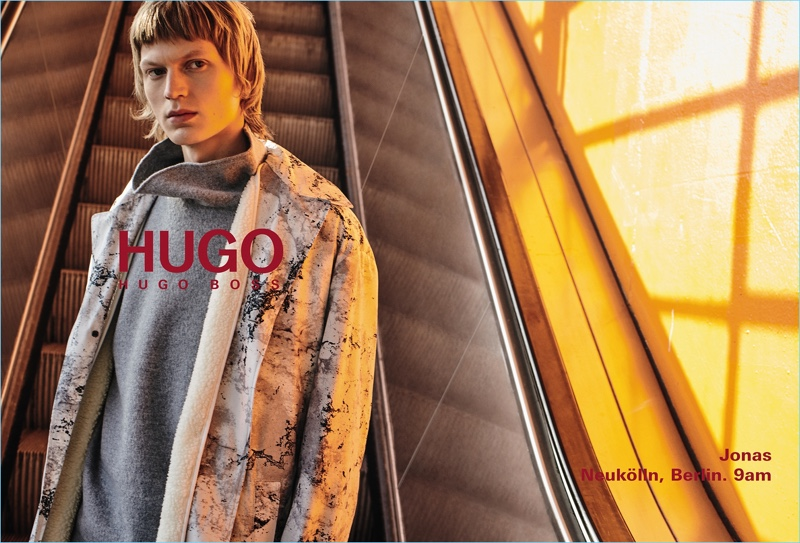 HUGO enlists Jonas Glöer as the star of its fall-winter 2018 men's campaign.
