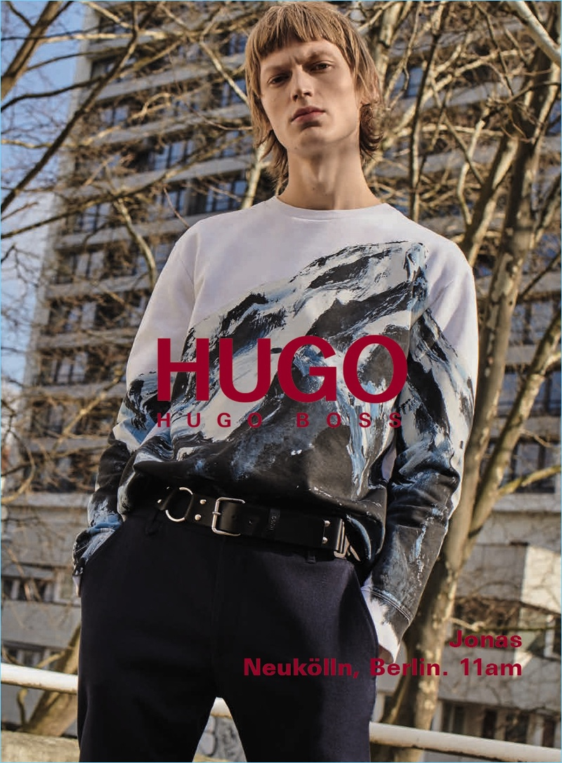 Jonas Glöer stars in HUGO's fall-winter 2018 men's campaign.