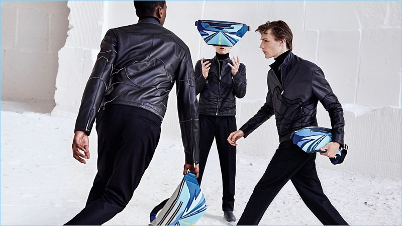 Oliver Kumbi, Anders Hayward, and Finnlay Davis come together for Hermès' fall-winter 2018 men's campaign.