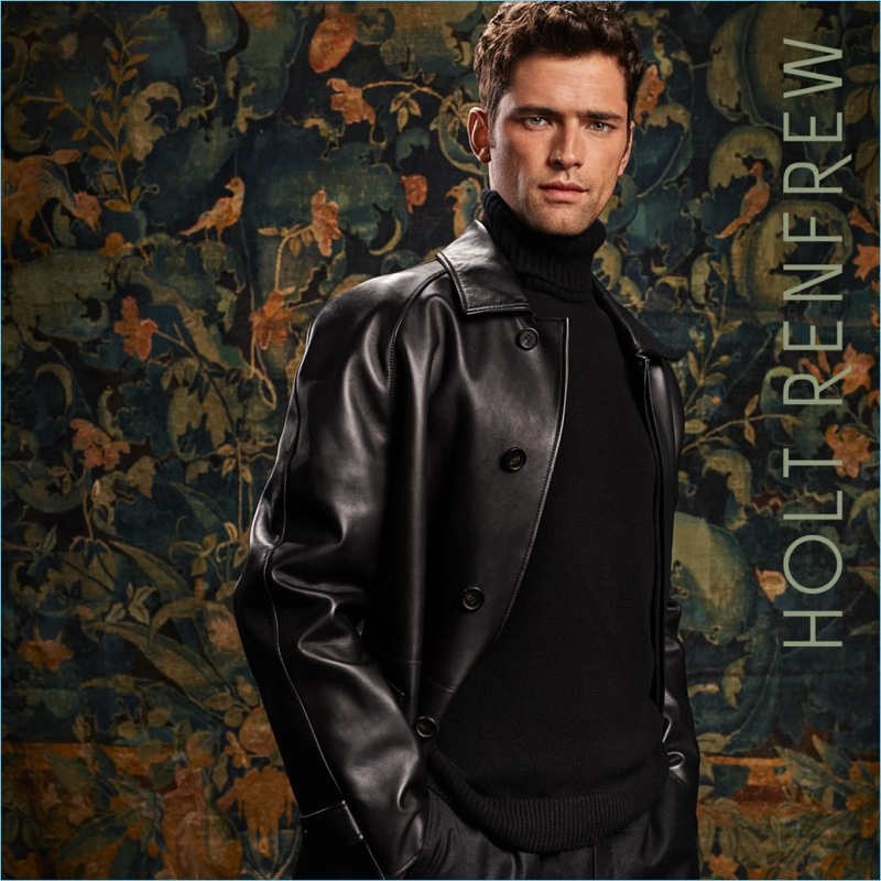Sean O'Pry fronts Holt Renfrew's fall-winter 2018 campaign in Brioni.