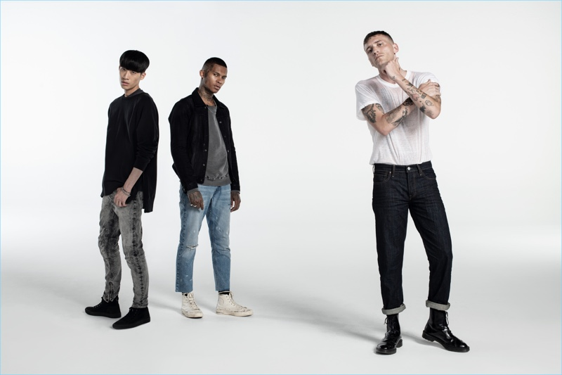 Taking to the studio, Jemin , Deion Smith, and Nathan Mitchell star in Hudson's fall-winter 2018 campaign.