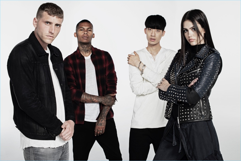 Hudson Jeans unveils its fall-winter 2018 campaign. It stars Nathan Mitchell, Deion Smith, Jemin, and Amelia Gray Hamlin.