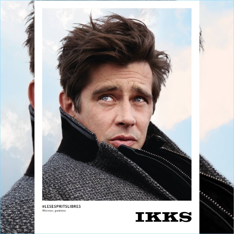 Werner Schreyer stars in IKKS' fall-winter 2018 campaign.