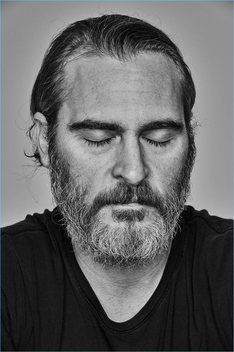 Eric Ray Davidson photographs Joaquin Phoenix for L'Officiel Hommes Paris.