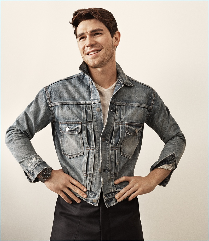 All smiles, KJ Apa stars in Fossil's latest advertising campaign.