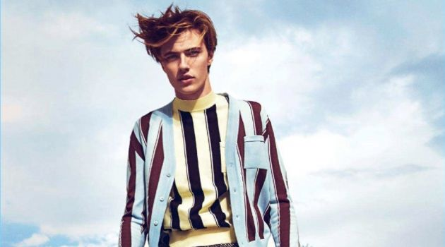 Lucky Blue Smith Visits Palm Springs with GQ Russia