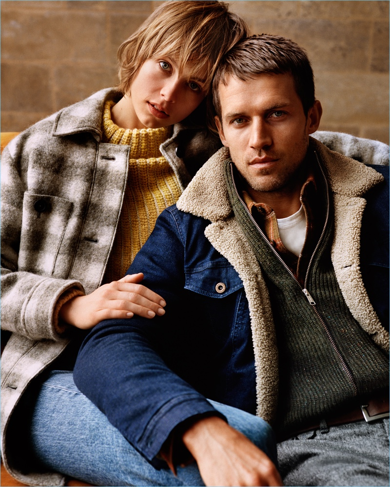 Edie Campbell and Andrew Cooper front Marc O'Polo's fall-winter 2018 campaign.