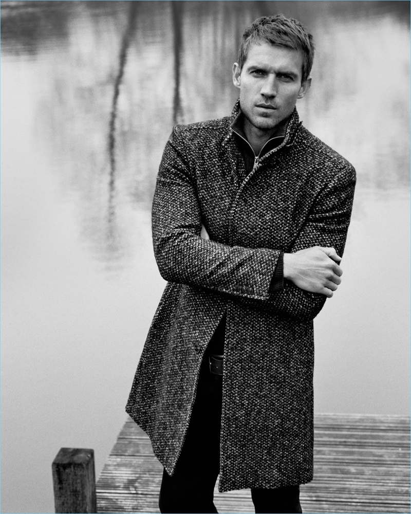 British actor Andrew Cooper fronts Marc O'Polo's fall-winter 2018 campaign.