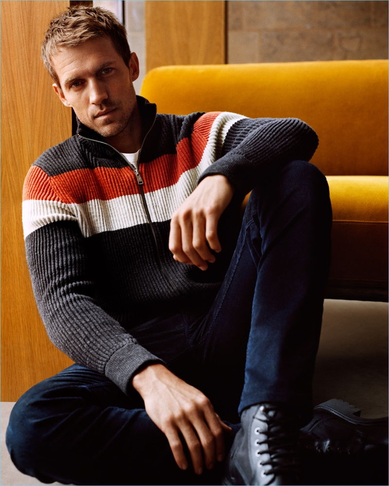 Going casual, Andrew Cooper stars in Marc O'Polo's fall-winter 2018 campaign.