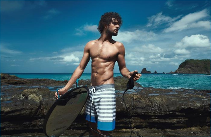 Marlon Teixeira stars in Track & Field's summer 2019 campaign.