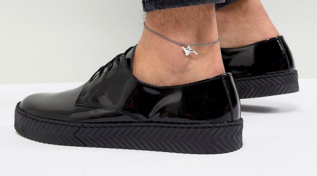 Men's Anklet with Origami Cheetah