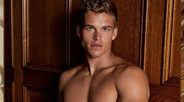 Mitchell Slaggert wears slate blue underwear by LE 31.