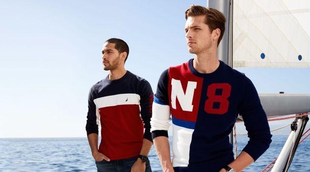 Daniel Pimentel and Edward Wilding reunite with Nautica for fall-winter 2018.