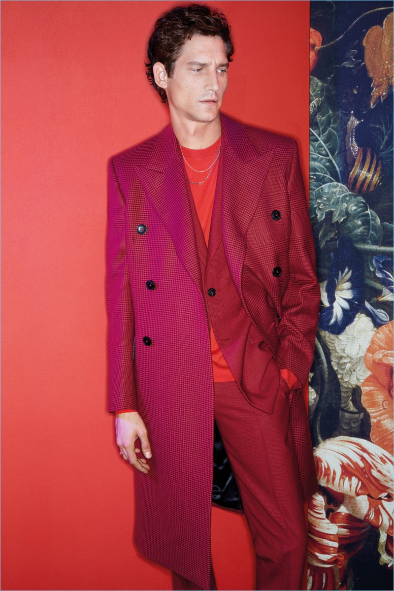 Roch Barbot stars in Paul Smith's fall-winter 2018 campaign.