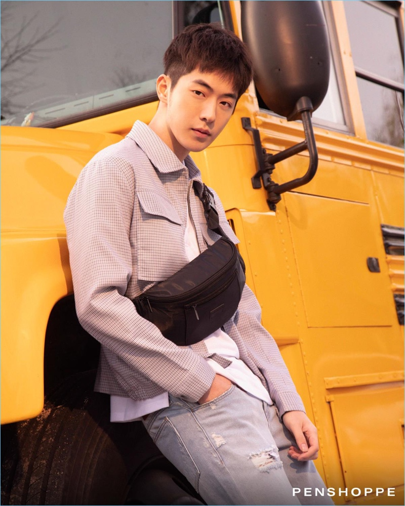 Nam Joo-hyuk appears in Penshoppe's pre-holiday 2018 campaign.