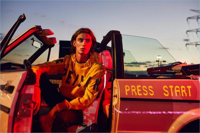 Martin Vicente stars in a fall 2018 editorial for Pepe Jeans.