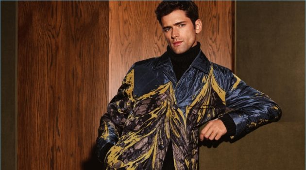 Sean O'Pry Rocks Statement Outerwear for Holt Renfrew