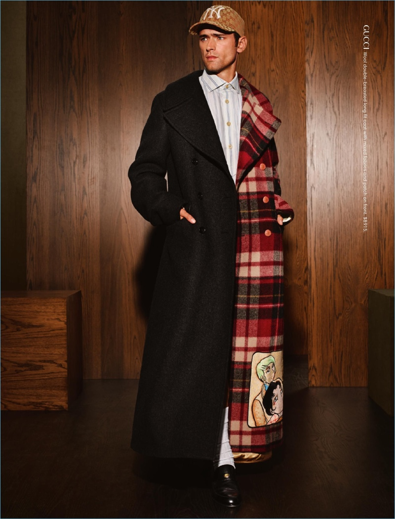 Donning a statement coat from Gucci, Sean O'Pry links up with Holt Renfrew for the season.