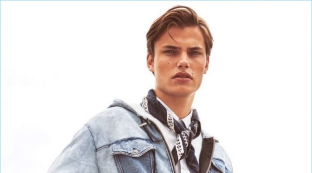 Simon Hammenstrand Dons Denim for Esquire Turkey