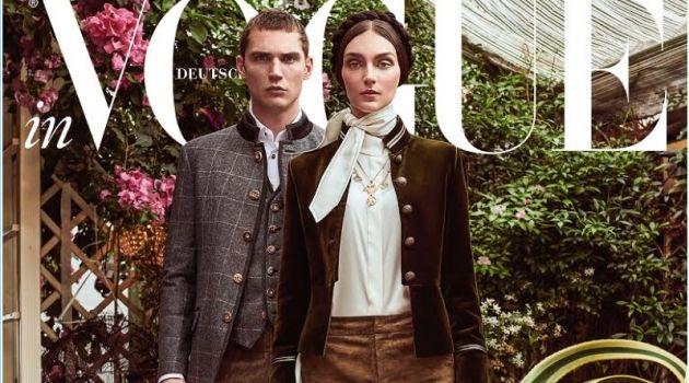 Solanne Maréxhaux Couples with Deimante Misiunaite for Vogue Germany