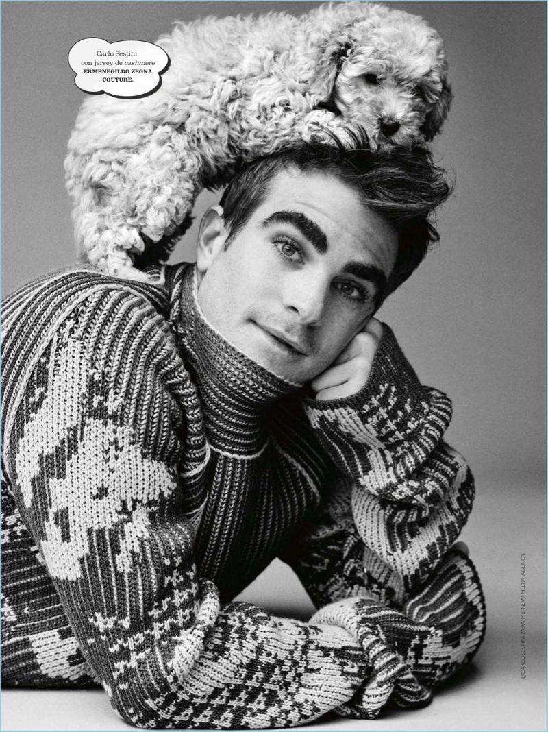 Elbio Bonsaglio, Giacomo Cavalli + More Don Sweaters for Spanish GQ