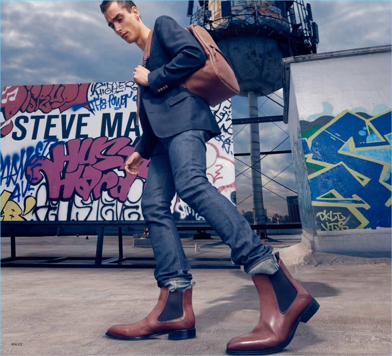 Kane Roberts fronts Steve Madden's fall-winter 2018 campaign.