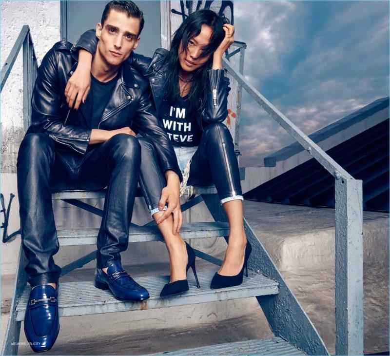 Models Kane Roberts and Charlene Almarvez come together for Steve Madden's fall-winter 2018 campaign.
