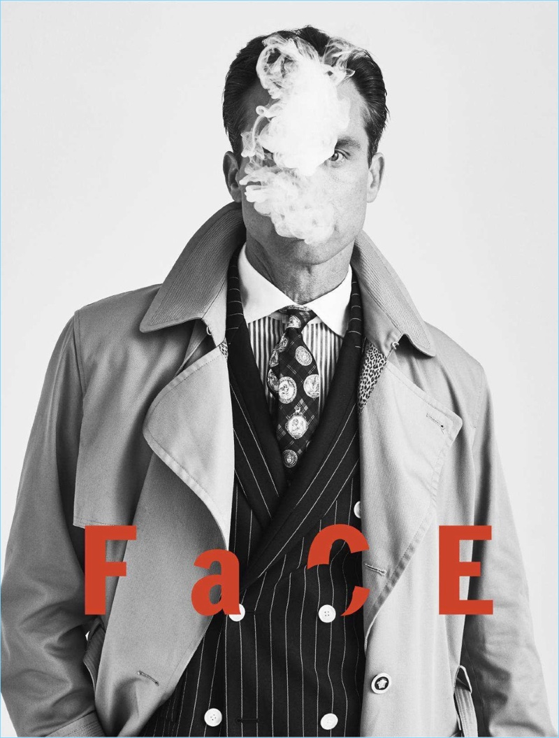 Thom Gwin Models Fall Fashions for Esquire