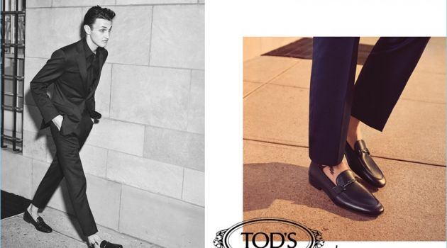 Anwar Hadid stars in Tod's fall-winter 2018 campaign.