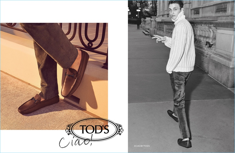 Tod's enlists Anwar Hadid as one of the stars of its fall-winter 2018 campaign.