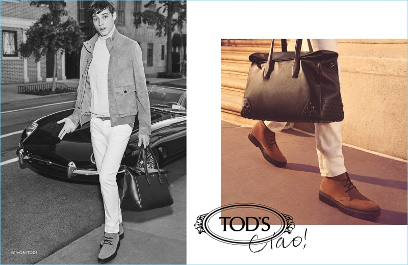Adrien Sahores fronts Tod's fall-winter 2018 campaign.