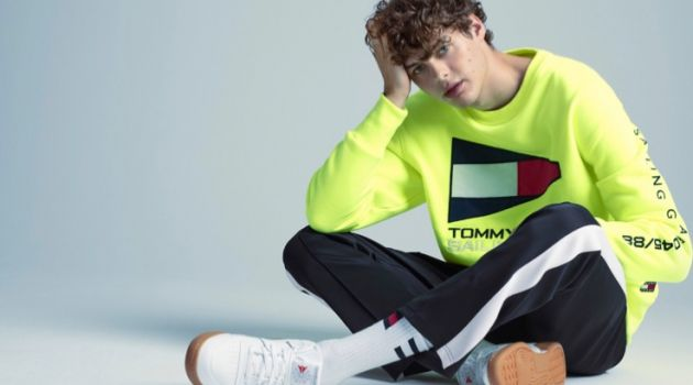 Front and center, Darwin Gray wears a look from Tommy Jeans.