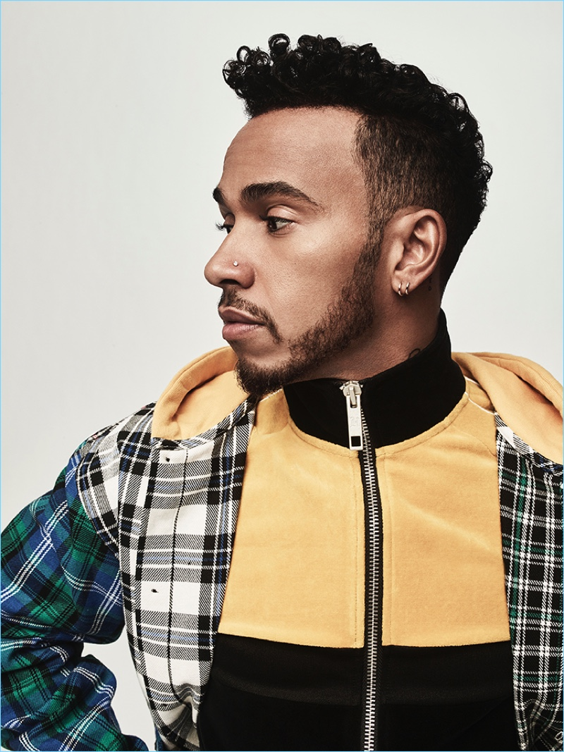 Ready for his close-up, Lewis Hamilton stars in the lookbook for his Tommy Hilfiger collaboration.