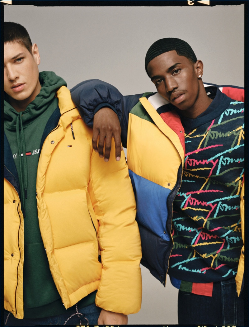 Aaron Unknown and Christian Combs front Tommy Jeans' fall-winter 2018 campaign.