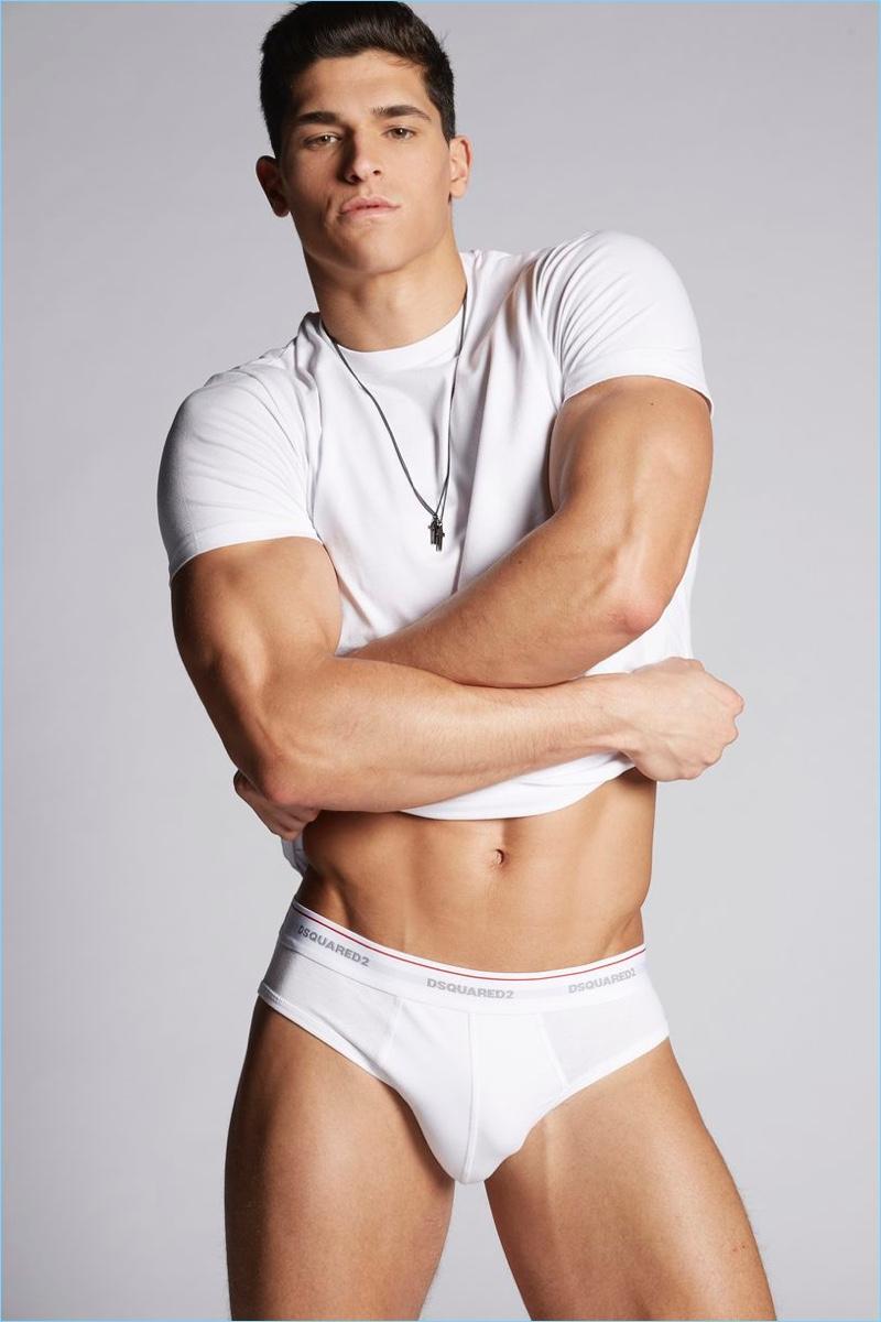 Dsquared2 enlists Trevor Signorino to model its latest underwear.