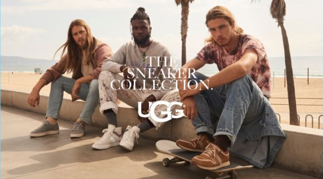 Zackery Michael, Gianni Lee, and Daniel Hivner star in UGG's fall-winter 2018 campaign.