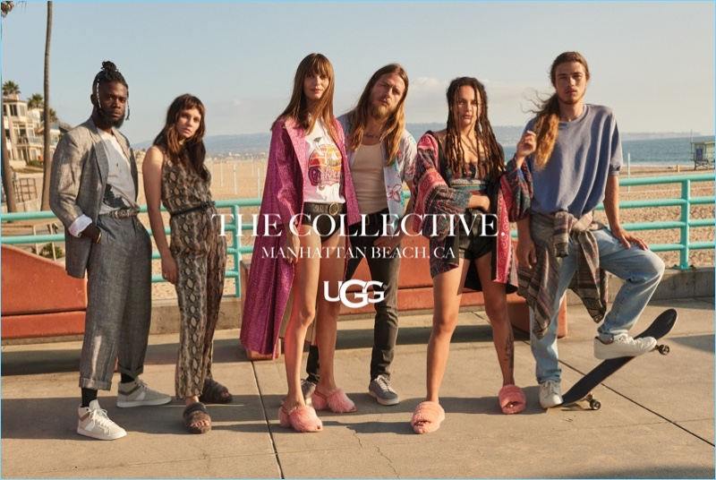 The UGG Collective takes to the beach for the brand's fall-winter 2018 campaign.