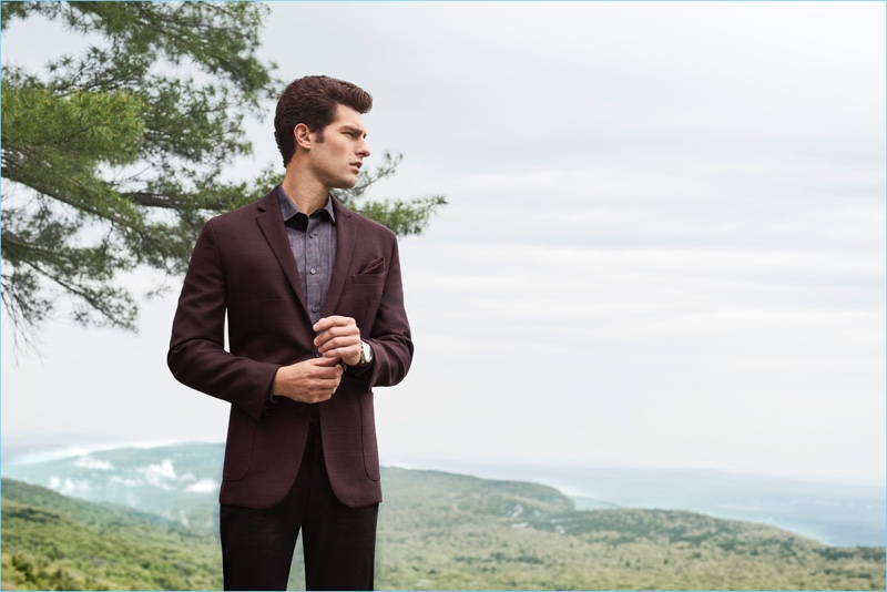 Model Paolo Anchisi appears in Vince Camuto's fall-winter 2018 men's campaign.