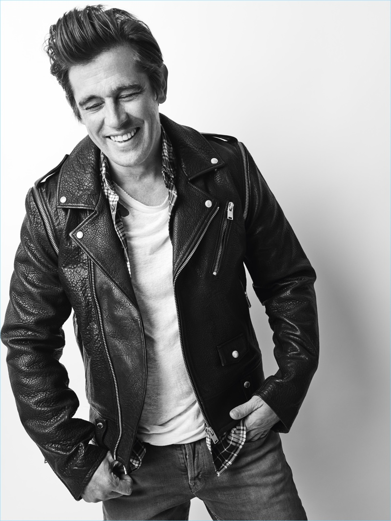 All smiles, Werner Schreyer fronts Zadig & Voltaire's fall-winter 2018 campaign.